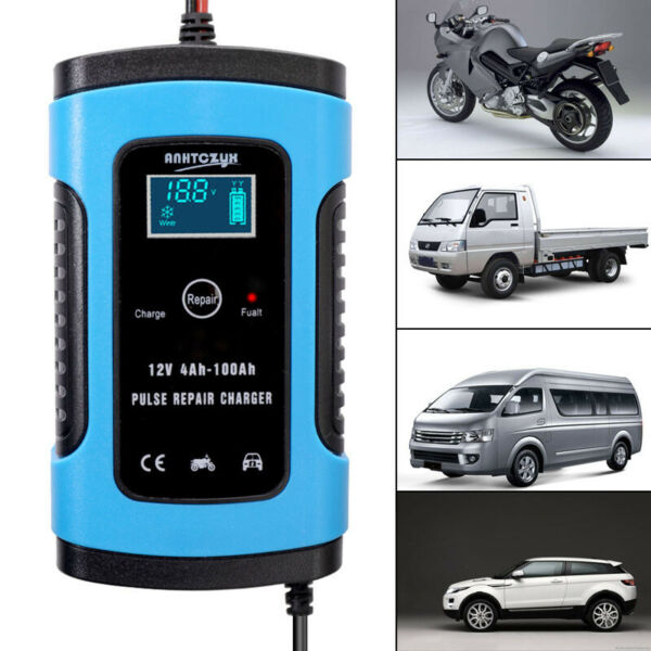 Car Auto Motorcycle Battery Charger Maintainer 6A 12V Charger Intelligent Tool $24.96
