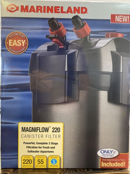 Marineland Magniflow Canister 220 for Aquarium Up to 55 Gal 1st Maint Uncl'd $74.99