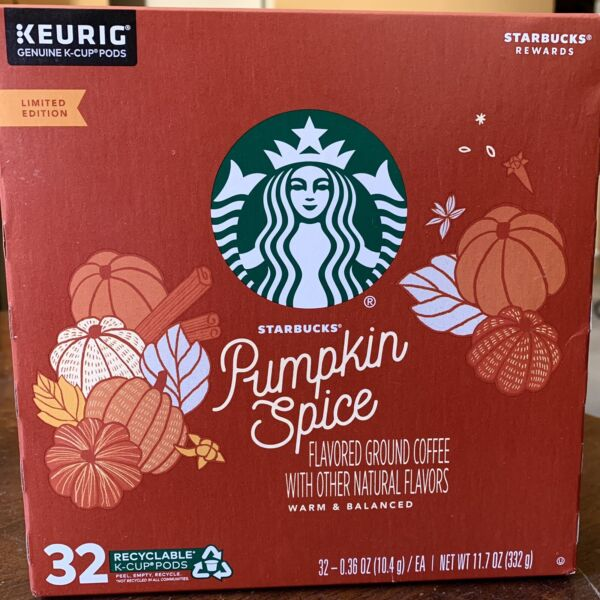 Keurig Starbucks Pumpkin Spice Coffee 31 Of 32 K Cup Pods Limited Edition Box