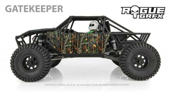Element RC Gatekeeper Body Graphic Wrap Skin Mossy Camo