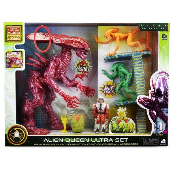 Alien Queen Ultra Set 4 Action Figures and Accessories Lights Kids Boys Toy