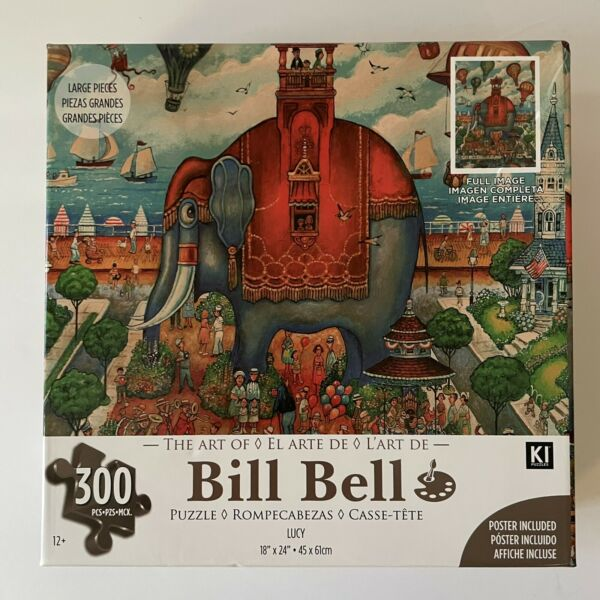 Bill Bell 300pc Puzzle Lucy Elephant Port Ships Ocean Harbor NEW SEALED $19.99