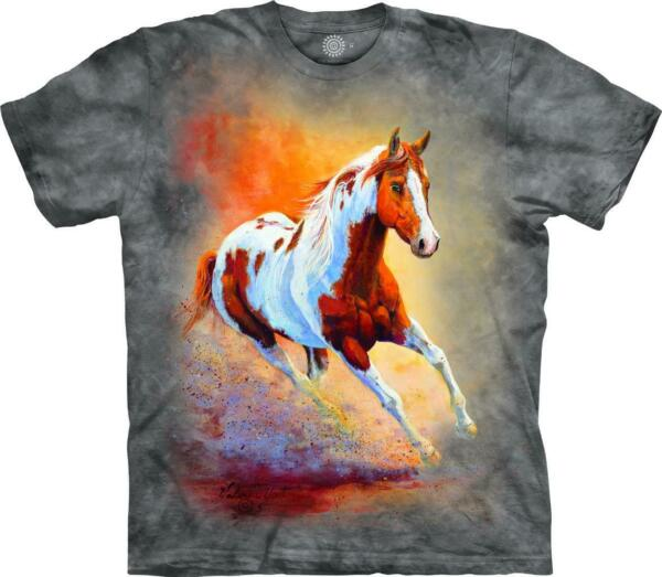 HORSE quot;SUNSET GALLOPquot; ADULT T SHIRT THE MOUNTAIN $18.69