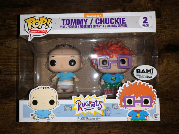 FUNKO POP NICKELODEON RUGRATS TOMMY AND CHUCKIE BAM EXCLUSIVE 2PK $79.00