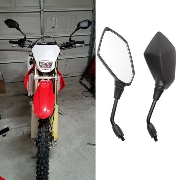 Black Motorcycle Rearview Mirrors Off Road For Honda CRF250X CRF230F CRF450X US $25.39