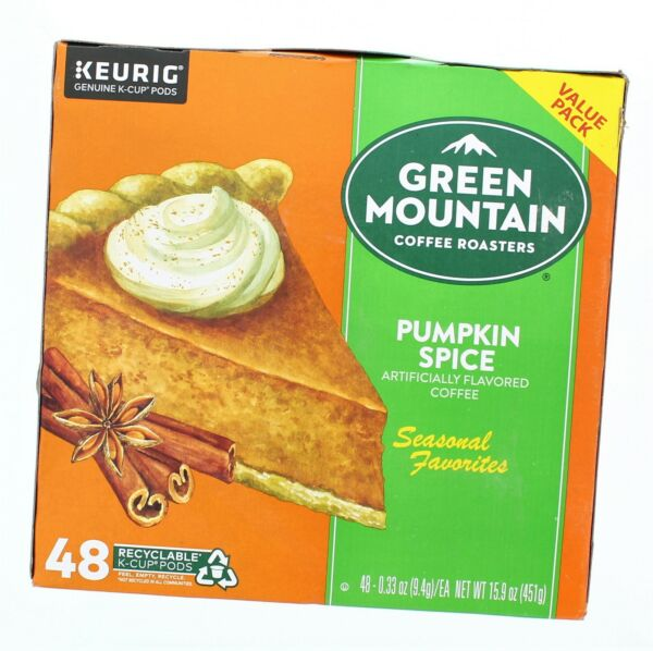 Keurig Green Mountain Pumpkin Spice K Cup Pods 48ct