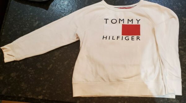 Tommy Hilfiger Sport.Women#x27;s Sweatshirt.Size Large. Color.Ivory with Tommy logo. $9.00