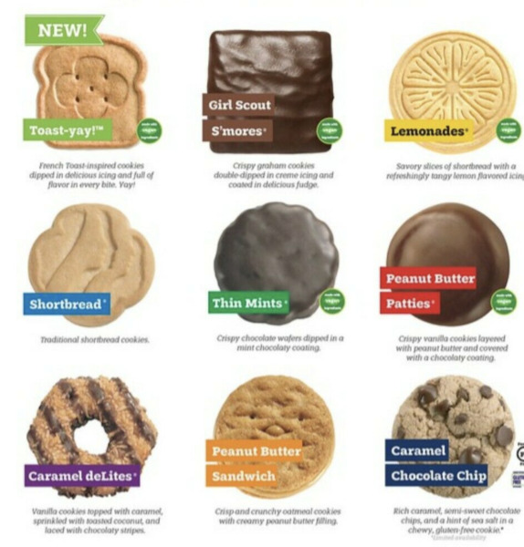 ABC Girl Scout Cookies YOU PICK ALL Flavors In Hand Free Shipping Today ONLY