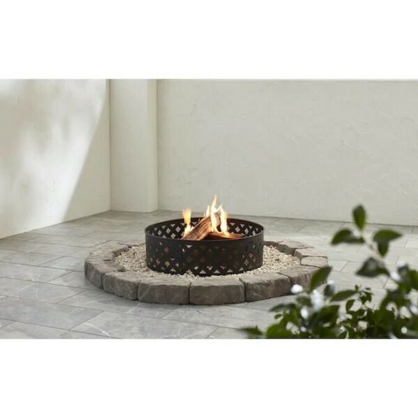 "Camp Fire pit Containment Ring Steel Outdoor Camping Backyard Decor 30""x8.5"""