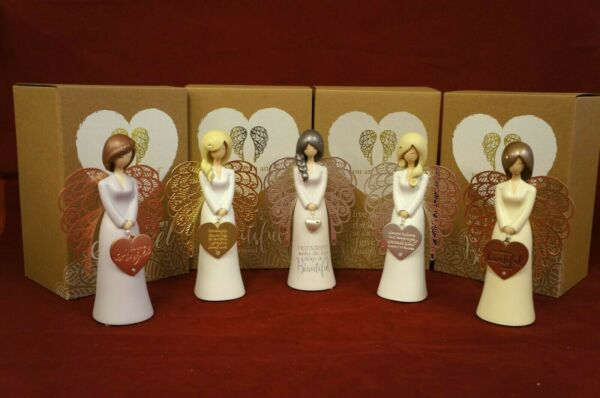 You Are An Angel Small Willow Tree Style Angel Motto Figurines 5 Designs GBP 22.99