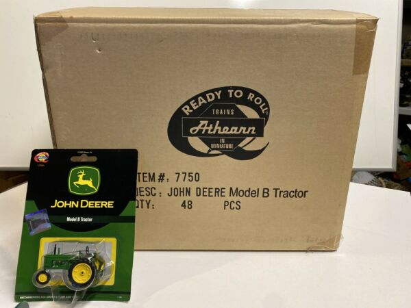 Athearn Diecast John Deere 1:50th O Scale Die Cast Model B Tractor Case Of 48