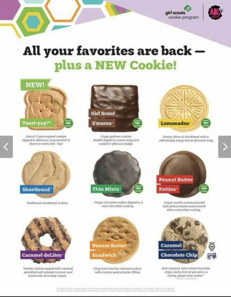 🍪2021 ABC Bakers Girl Scout Cookies Your Choice 🍪💕 MUST buy 6 OR MORE 🍪💕