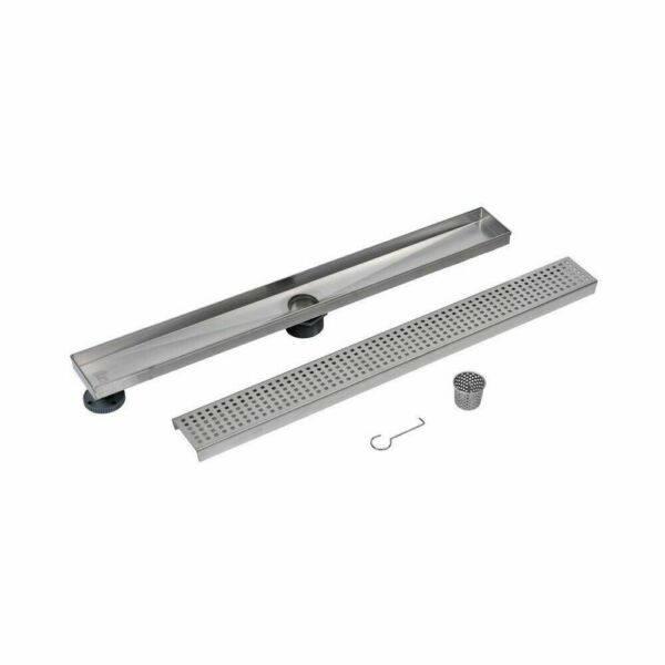 28quot; Shower Floor Linear Drain Square Grate Stainless Steel Oatey Designline