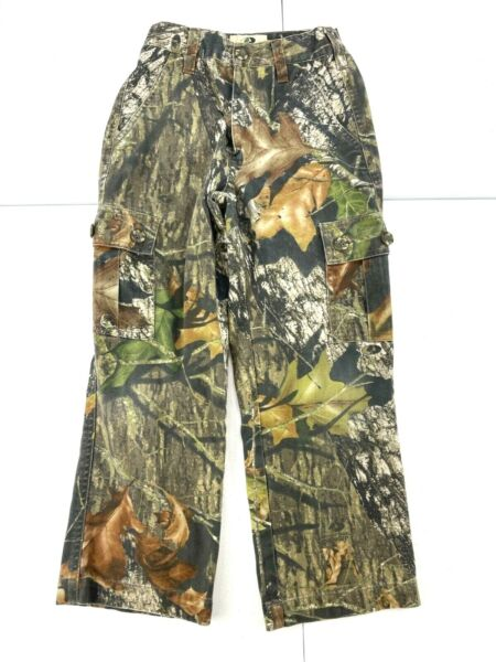 Mossy Oak Field Staff Youth Camo Camouflage CARGO Hunting Pants Youth Small