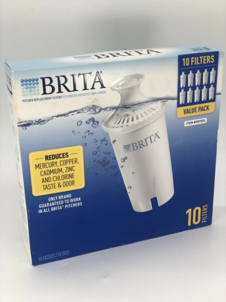 Brita Pitcher Filters 10 Pack Genuine Fits all Models Except the Stream