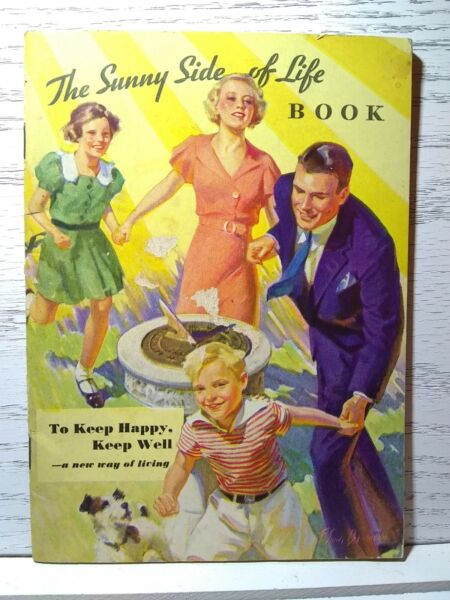 Vintage 32 Page Kellogg quot;The Sunny Side of Lifequot; Booklet 1934 All Bran Cookbook