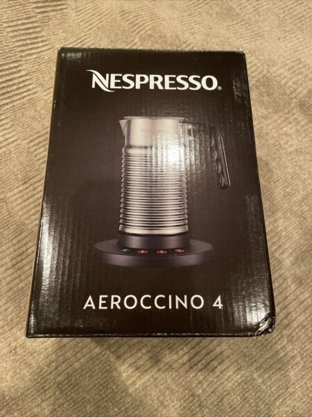 Nespresso Aeroccino 4 Chrome Milk Frother Brand New In Box FREE SHIPPING