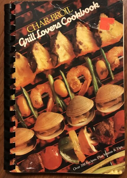 VINTAGE CHARBROIL GRILL LOVERS COOKBOOK BBQ RECIPES BARBECUE COOK BOOK