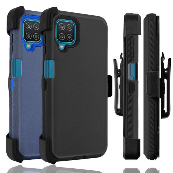 For Samsung Galaxy A12 Case Holster Belt Clip Stand Heavy Duty Shockproof Cover