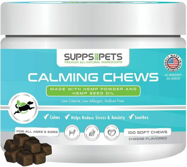 Organic H*mp Dog Calming Chews Separation Anxiety Stress Relief amp; Calm Be $39.59