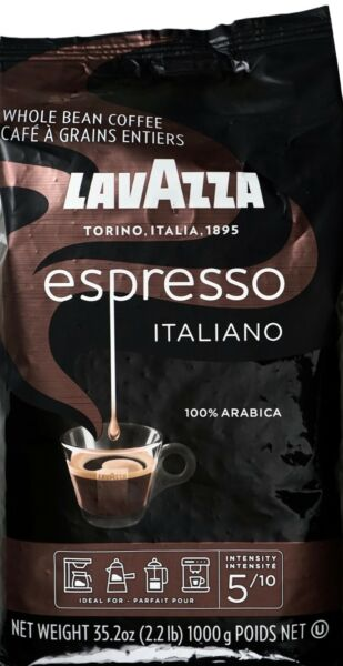 LavAzza Espresso Italiano Whole Bean Coffee Arabica Medium Roast 35.2 Ounce