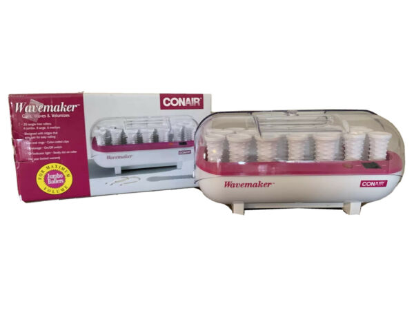 Conair Wavemaker Instant Heat 20 Hair Tangle Free Rollers no Clips Curls waves $14.00