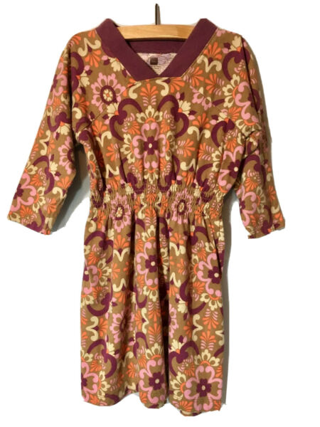 Tea Collection Girl Sz 5 Vida Talavera Modern Mexico Floral Raglan Dress