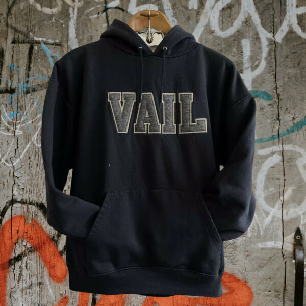 CHAMPION VAIL Colorado Sewn Hoodie Men's XL Embroidered Distressed Faded