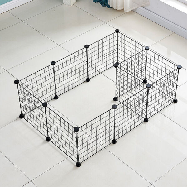 Portable Metal Dog Pet Playpen Crate Animal Fence Exercise Cage W Door 12 Pcs $23.99