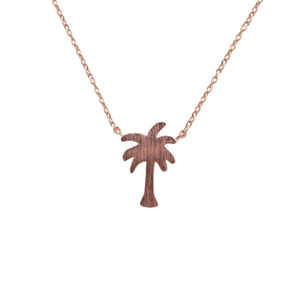 Dainty Palm Tree Necklace