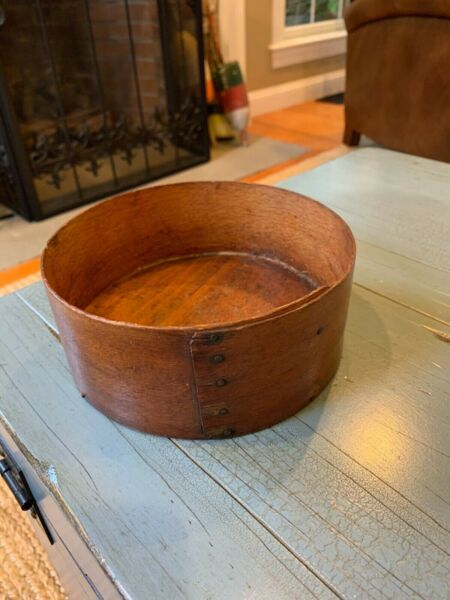 Rare Antique Pantry Box Grain Measure 6 1 2 Wooden Rustic Wood Short
