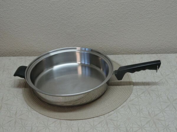 Cutco Cookware Stainless 5 Ply Aluminum Core 11quot; Skillet Fry Pan