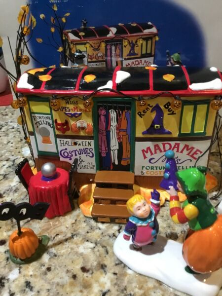 Dept. 56 Snow Village Halloween quot;Costumes For Salequot; Battery Operated $39.95