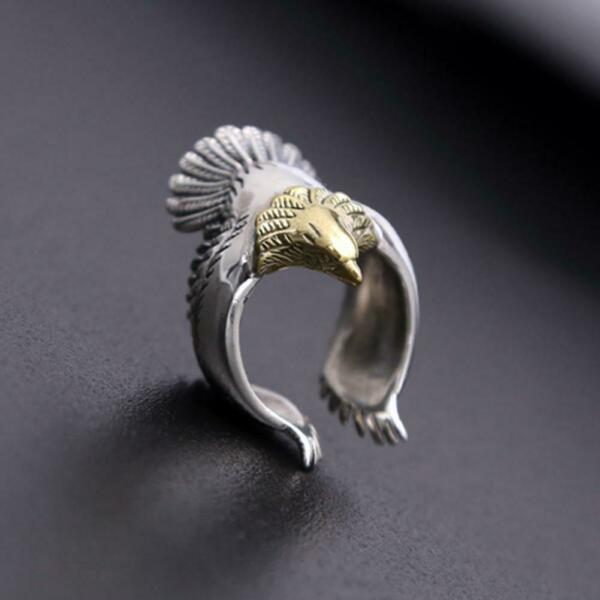 Men Open Eagle Ring New