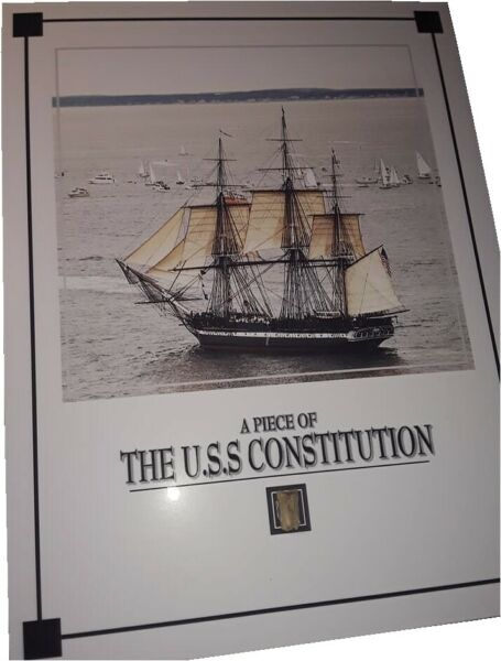 USS CONSTITUTION aka OLD IRONSIDES ship wood piece wooden relic