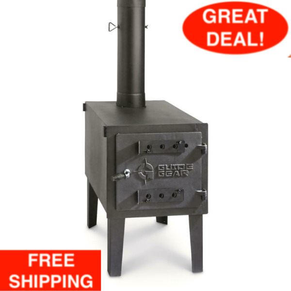 GUIDE GEAR Outdoor Wood Stove Adjustable Air Vent Camp Warmer Coffee Sauce Pans $147.99