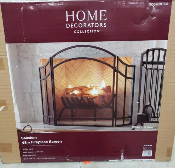 Home Decorators Salishan Collection 48quot; 3 Panel Fireplace Screen ^
