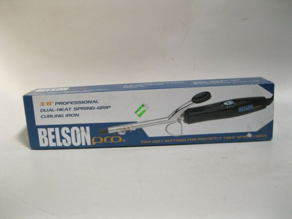 Belson Products Curling Irons 2 Heat Settings Chrome Plate 3 8in amp; 1 1 2in $11.21