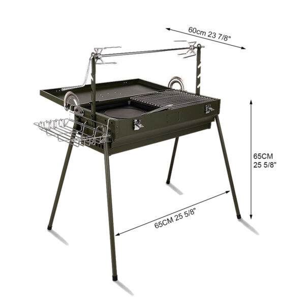 BBQ Grill Charcoal Barbecue Outdoor Pit Patio Backyard Home Meat Cooker Easy Use