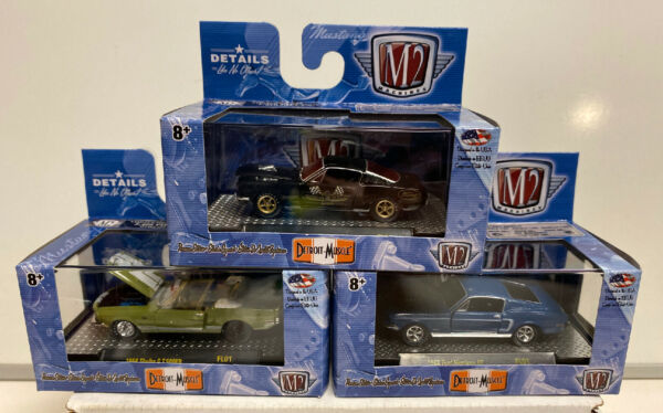 M2 Machines Detroit Muscle Release FL01: 1 64 3 Car Mustang Shelby Set $19.99