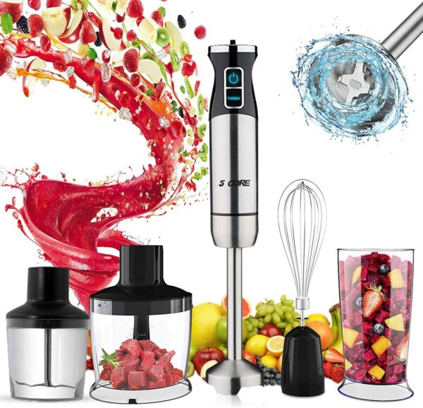5 Core 5 In 1 Hand Held Blender Stick Immersion 2 Speed 8 Modes Mixer 1520 $44.99
