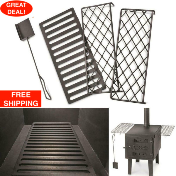 OUTDOOR WOOD STOVE ACCESSORY BUNDLE Guide Gear Scoop Stove Grate 2 Stove Racks $67.99