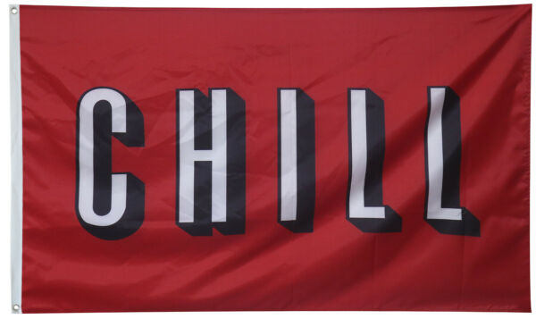 Chill Dorms College Football Banner Flag 3X5 Man Cave Decor