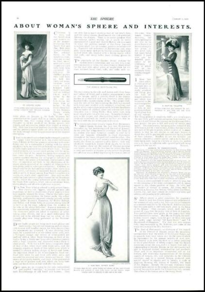 1910 FASHION Chiffon Gown Dinner Gown Visiting Toilette Conklin Pen 12