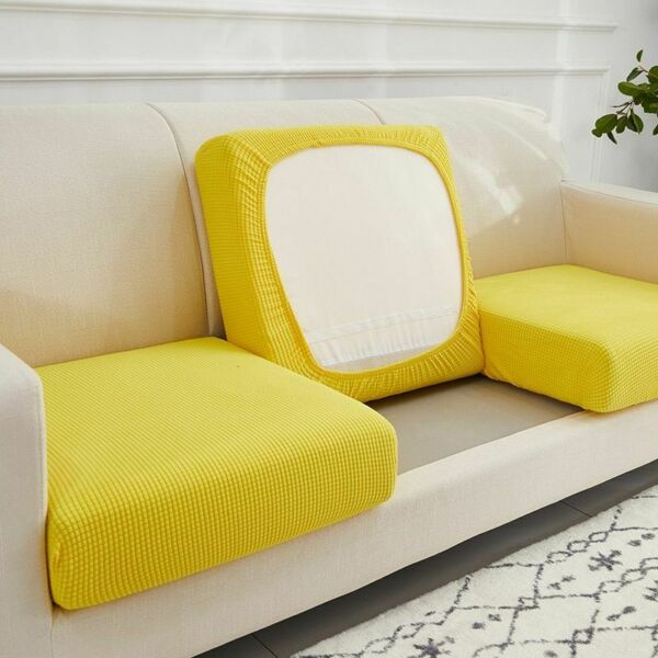 Furniture Protectors Sofa Seat Cushion Elastic Solid Stretch Washable Removable $11.95
