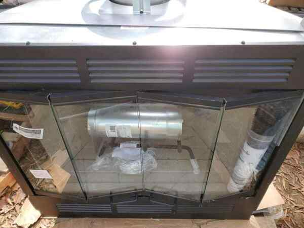 Wood burning and or gas fireplace. 36quot; full view opening. Brand new. Full view