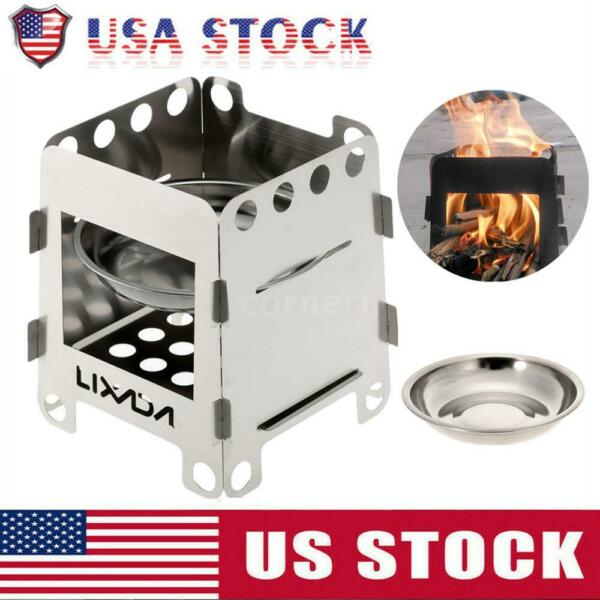 Lixada Outdoor Wood Alcohol Stove Lightweight Mini Camping Stove amp; Carrier Bags $11.82