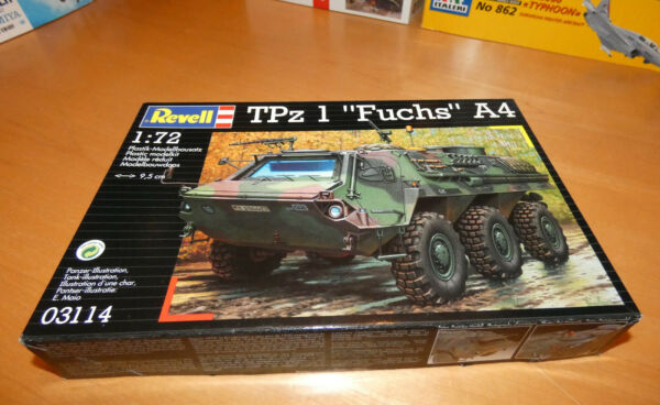 REVELL TPZ 1 FUCHS A4 ARMORED PERSONEL CARRIER 1:72 ITEM#03114 $8.00