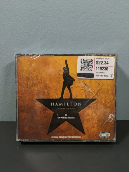 Hamilton Soundtrack Original Broadway Cast Recording.NEW SEALED CRACKED CASE
