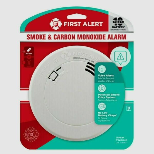 First Alert Smoke Fire amp; Carbon Monoxide With Voice Location Battery Operated $20.99